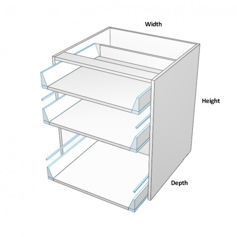 3 drawers top 2 not equal no drawer fronts dimensions