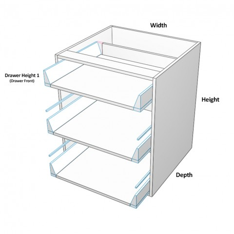 3 drawers top not equal