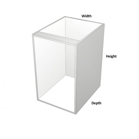 Bin Cabinet with 600mm Sige Bin Kit Dimensions