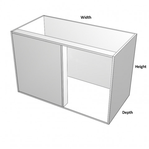 Blind Corner Left Hinge - No shelf - Dimensions