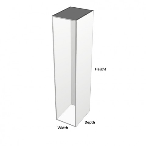 Broom-1-door No Shelf-hinge-left dimensions