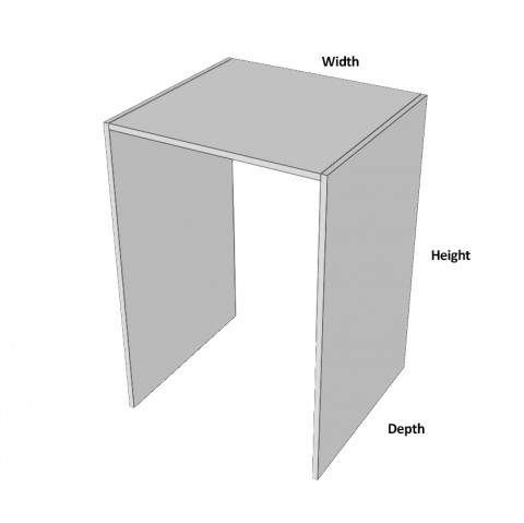 Dishwasher Space Support Dimensions
