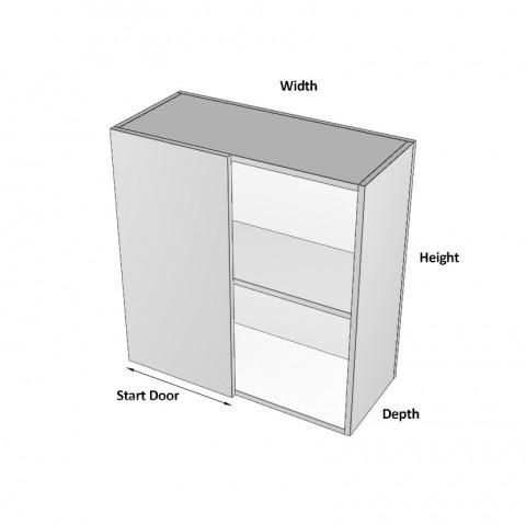 Overhead Blind Corner Left - Dimensions