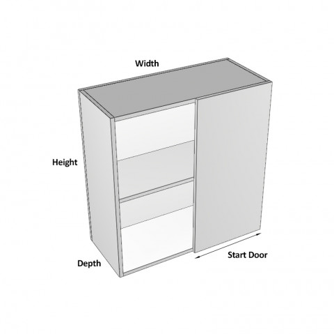Overhead Blind Corner Right - Dimensions