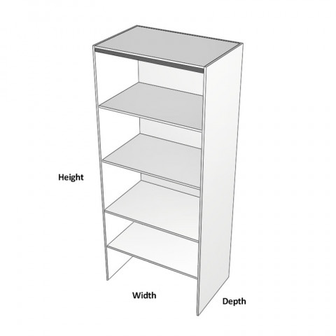 Pantry Bifold Cabinet Left Dimensions