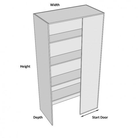 Pantry Cabinet Blind Corner 2 Doors (Left) walk in dimensions