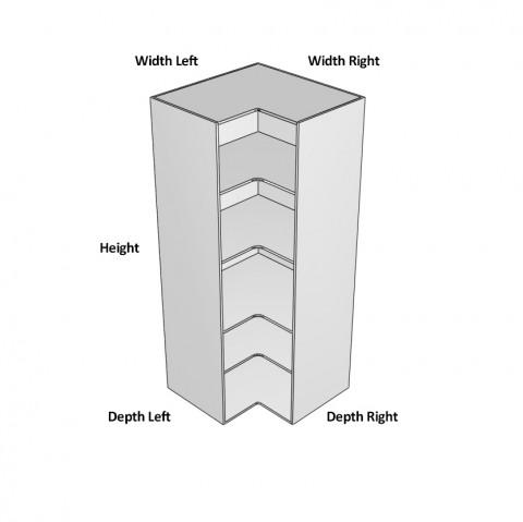 Pantry Open Corner 2 Doors Hinged Left Dimensions