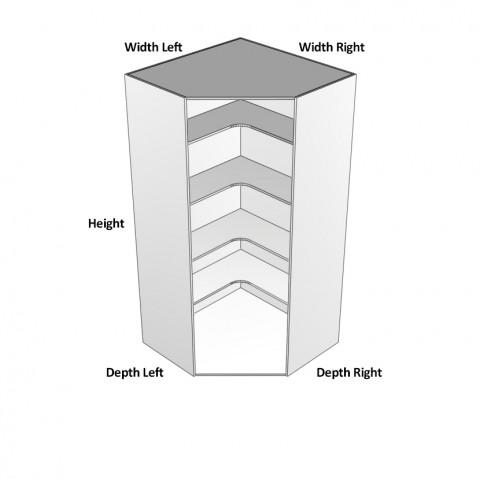 Pantry Step in 2 doors dimensions