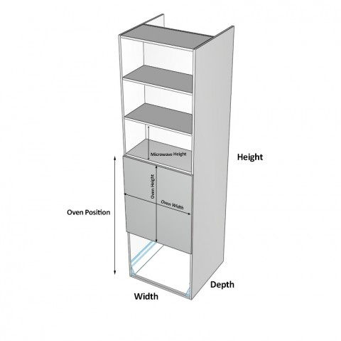 Wall-Oven-1-Drawer 2 doors dimensions
