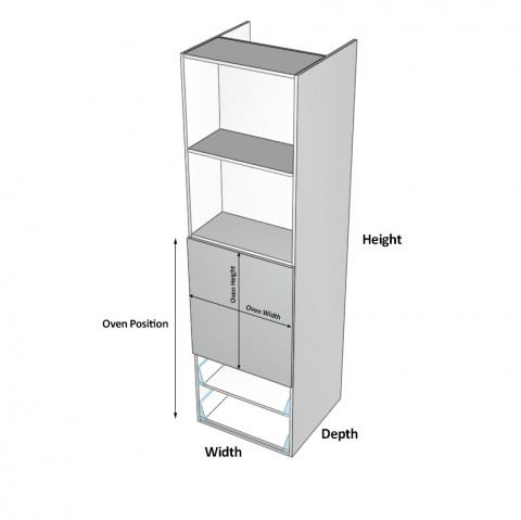 Wall-Oven-2-Drawers 2 Doors NO microwave Dimensions