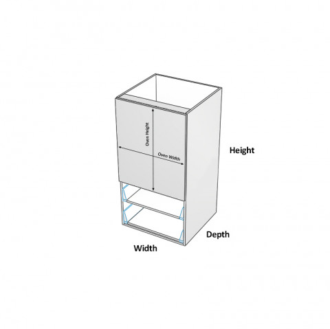Walloven - Oven Only - 2 Drawers - dimensions