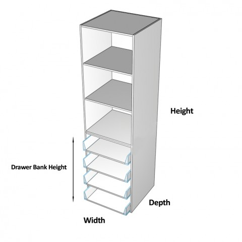 Wardrobe Cabinet 4 drawers dimensions