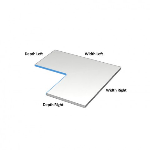 cut and edge corner shelf dimensions