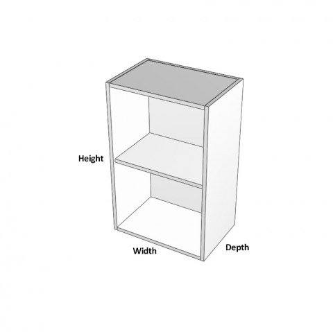 1-Door 1 shelf-Wall-Hinge-Left dimensions