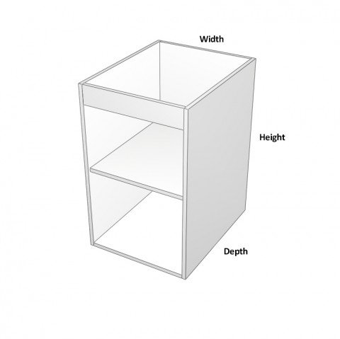 1-Door Sink Cabinet -hinge-left dimensions