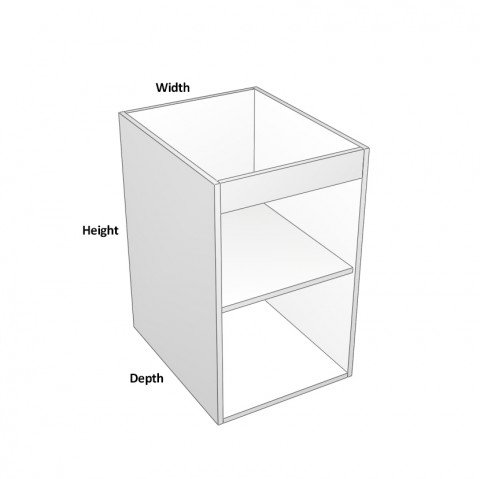 1-Door Sink Cabinet -hinge-right dimensions