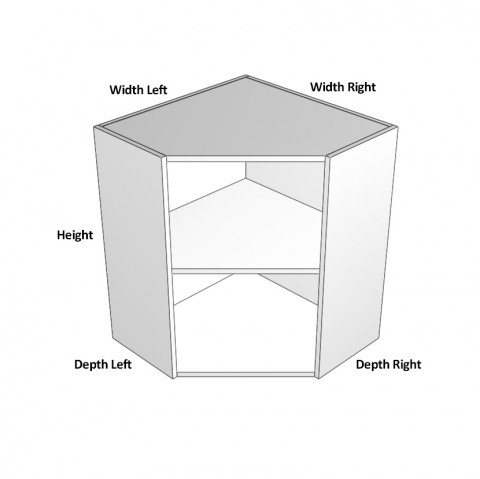 2 doors angled dimensions