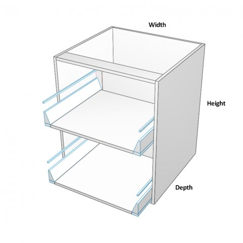 2 drawers equal dimensions