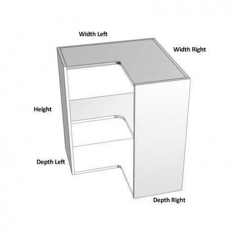 2-Door-corner left hinge-dimensions-
