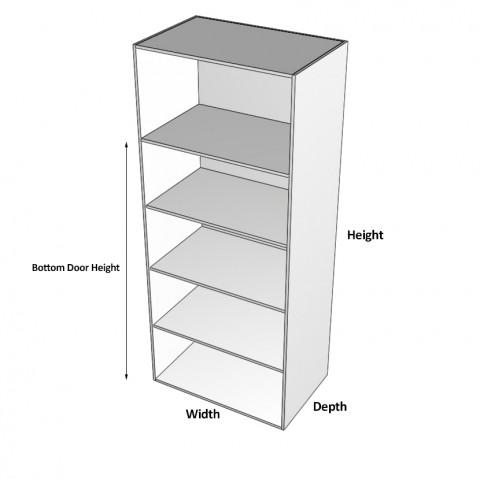 4 doors 1 fixed shelf 3 adjustable dimensions