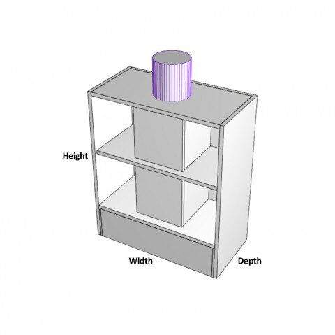 600mm rangehood ducted dimensions