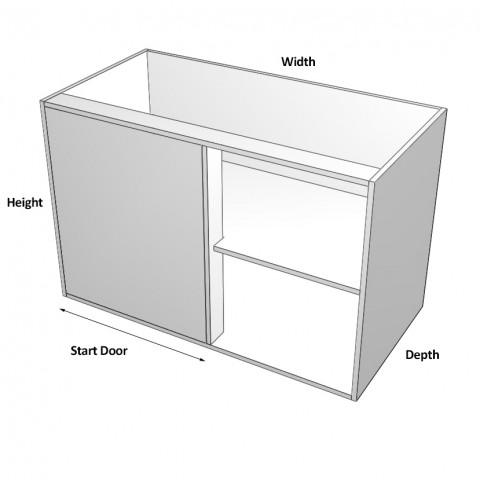 Blind Corner Cabinet 2 doors right dimensions