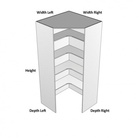Corner Walk in Hinge Left dimensions