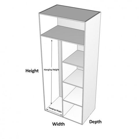 Wardrobe Cabinet Shelves Right Dimensions