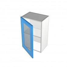 Raw MDF - Overhead Cabinet - 1 Glass Door - Hinged Left