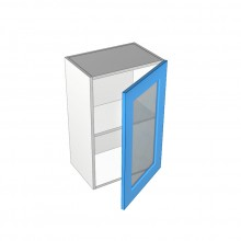 Raw MDF - Overhead Cabinet - 1 Glass Door - Hinged Right
