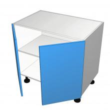 Raw MDF - Floor Cabinet - Solid Top - 2 Doors