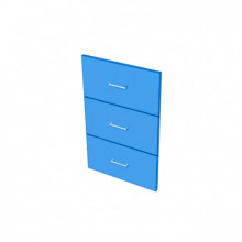 Raw MDF - 3 Drawer Fronts