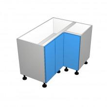 Painted - Floor Cabinet - Open Corner - 3 Doors - (2 Left 1 Right)