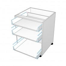 Carcass Only - Drawer Cabinet - 3 Drawers - Top 2 Drawers Smaller (Finista)