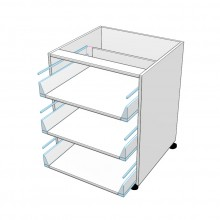 Carcass Only - Drawer Cabinet - 3 Equal Drawers (Finista)