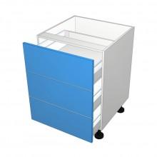 Raw MDF - Drawer Cabinet - 3 Equal Drawers (Blum Legrabox)
