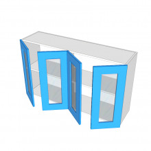 Laminex 16mm ABS - Overhead Cabinet - 4 Glass Doors (2 Pairs)