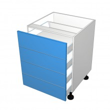 Raw MDF - Drawer Cabinet - 4 Equal Drawers (Blum Legrabox)