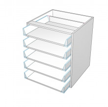 Carcass Only - Drawer Cabinet - 5 All Unequal Drawers (Blum)