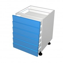 Stylelite Acrylic - 6 All Unequal Drawer Cabinet (Blum)