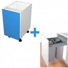 Polytec 16mm ABS - 450mm Bin Cabinet - Wesco Bin