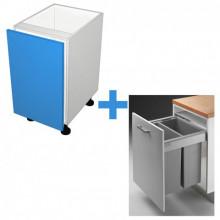 Raw MDF - 600mm Bin Cabinet - Wesco Bin