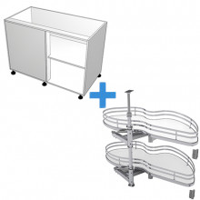 Carcass Only - Blind Corner Cabinet - SIGE Kidney Pull Out - Right Hand Opening
