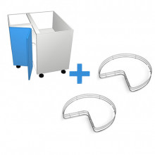 Formica 16mm ABS - 800mm Corner Cabinet - SIGE Corner Carousel - Hinged Left