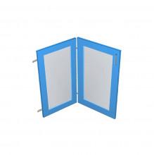 Raw MDF Corner Glass Panel Door