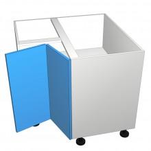 Stylelite Acrylic - Floor Cabinet - Open Corner - 2 Doors - Hinged Right