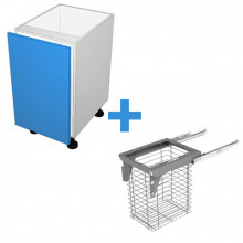 StyleLite Acrylic - 450mm Laundry Cabinet - SIGE 60L Basket