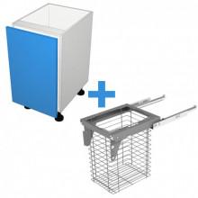 Polytec 16mm ABS - 600mm Laundry Cabinet - SIGE 90L Basket