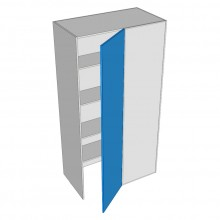 Painted - Pantry Cabinet - Blind Corner - 1 Door - Hinged Right (Walk In)