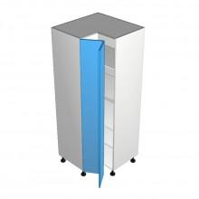 Raw MDF - Pantry Cabinet - Open Corner - 2 doors - Hinged Left